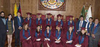 Incorporación de los bachilleres de la primera  promoción del Colegio Virtual Solidaridad,  Univesidad Andina Simón Bolivar, Quito