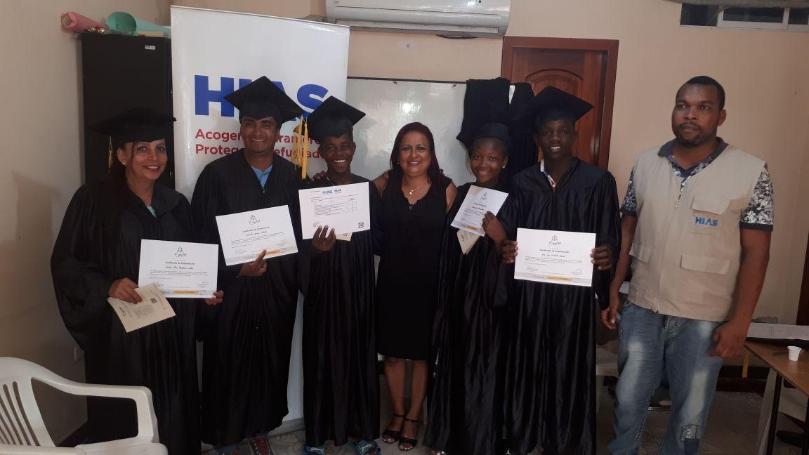 Graduación curso de  arreglo y mantenimiento de celulares   HIAS – FUNDERSan Lorenzo, Esmeraldas