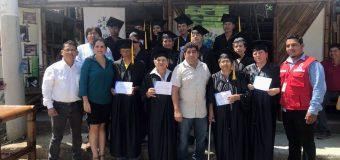 Graduación curso de construcción en caña gudua,  CRUZ ROJA – FUNDER, Coaque, Manabi,