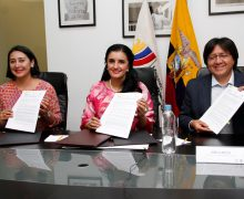 Firma de convenio de cooperación interinstitucional  entre Ministerio de Justicia, OEI y FUNDER