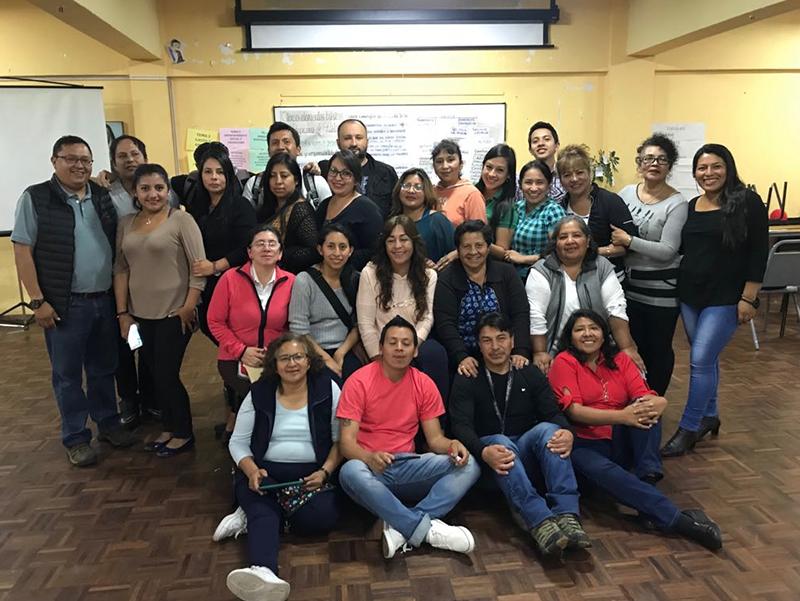 Formación de formadores Aflatoum  docentes centro del muchacho trabajador, Quito