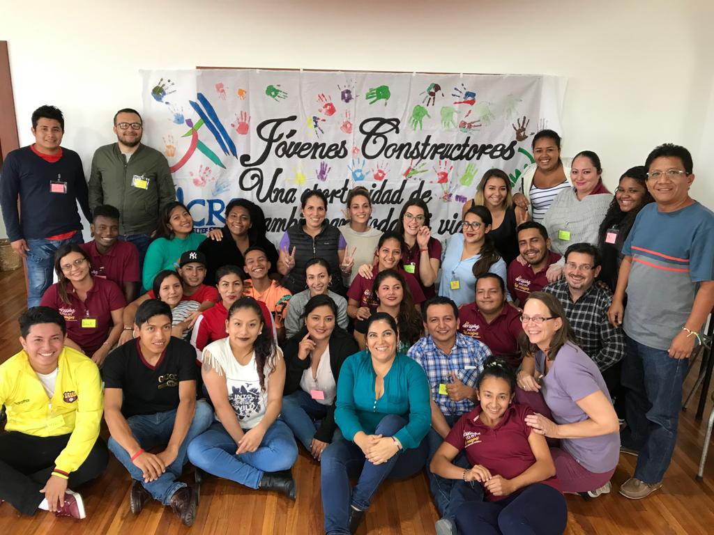 Encuentro de representantes de Ibarra, Lago Agrio, Portoviejo  y Machala del proyecto Jóvenes Constructores,  CRS – FUNDER, Quito