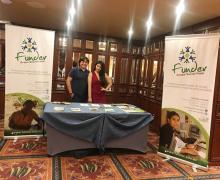 Stand de Funder en el Seminario Internacional  de Educación Cooperativa, Quito