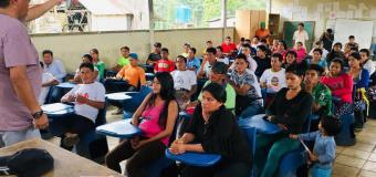 Socialización del Colegio Virtual Solidaridad  en la comunidad de la nacionalidad Chachi,  Cantón Eloy Alfaro, Esmeraldas