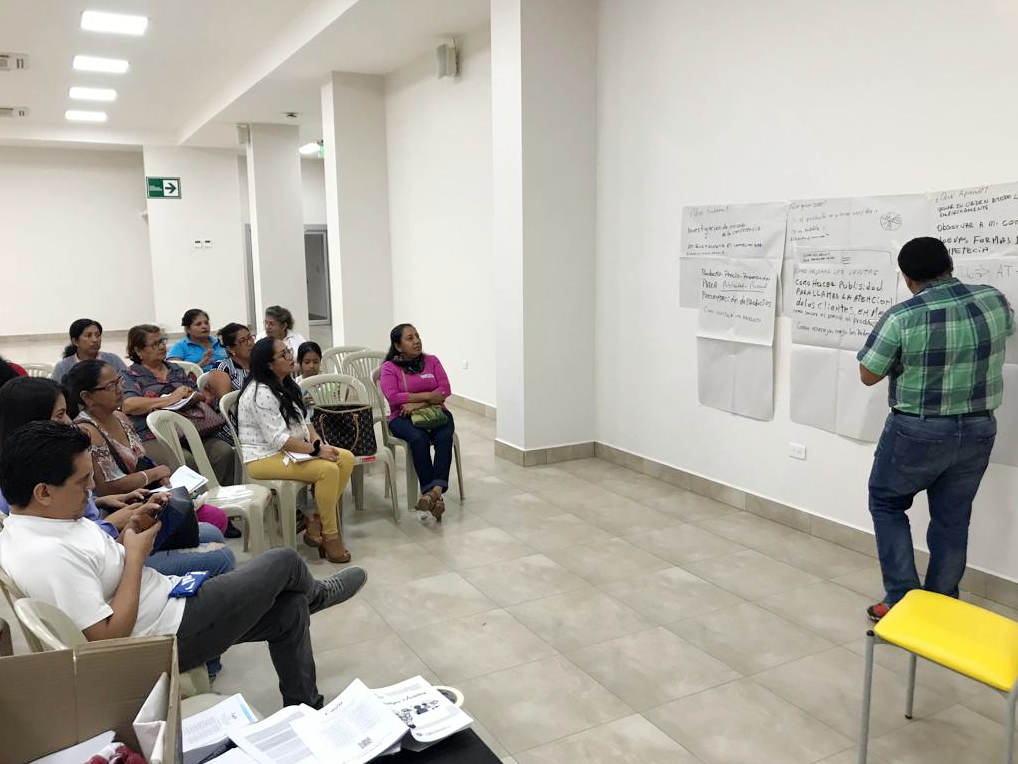 Programa de asistencia técnica a emprendimientos de la Economía Solidaria GAD El ORO – FUNDER, Machala