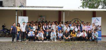 Participantes del proyecto Jóvenes Constructores en Lago Agrio DVV – FUNDER, Sucumbios