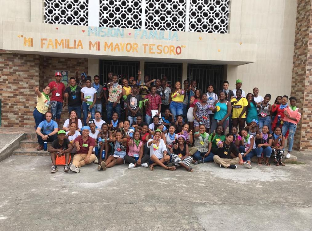 Participantes del proyecto Jóvenes Constructores en San Lorenzo ACNUR – FUNDER, Esmeraldas