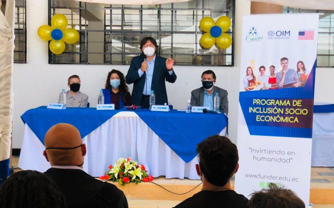 Graduación de Procesos Formativos del Eje 4, Formación Ocupacional –  enmarcados en el Proyecto de Inclusión Socioeconómica, conjuntamente con OIM Ecuador apoyando a la comunidad migrante venezolana y población ecuatoriana de acogida en Quito.